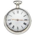 Timepieces:Pocket (pre 1900) , London Verge Fusee Hallmark Silver Pair Case Pocket Watch. ...