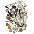 Timepieces:Other , Lots Of Wristwatches, Pocket Watches, Movements & Dials For Parts Or Repair & Black Hills Gold Pendant. ...