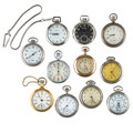 Timepieces:Other , A Lot Of Eleven Miscellaneous Watch Items. ... (Total: 11 Items)