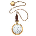Timepieces:Pocket (post 1900), Elgin 14k Gold 15 Jewel Pocket Watch. ... (Total: 2 Items)