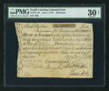 Colonial Notes:South Carolina, South Carolina June 1, 1775 £50 PMG Very Fine 30 Net.. ...