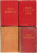 Books:Travels & Voyages, [Travel]. Group of Four Baedeker's Guides to Italy. Leipzig: Karl Baedeker, 1886 - 1912. ... (Total: 4 Items)