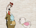 Animation Art:Production Cel, Get Rich Quick Porky Production Cel (Warner Brothers,1960s-70s)....