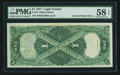Error Notes:Large Size Inverts, Fr. 37 $1 1917 Legal Tender PMG Choice About Unc 58 EPQ.. ...