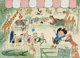 Ludwig Bemelmans (American, 1898-1962) Children at the Zoo Gouache, watercolor, and ink on board 21.75 x 30 in. (shee