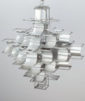 Decorative Arts, French:Lamps & Lighting, Max Sauze (French, b. 1933). Cassiopé Chandelier, designed1969. Brushed aluminum, steel wire. 25-5/8 inches high (65.1 ...