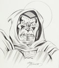Original Comic Art:Sketches, Joe Sinnott - Doctor Doom Sketch Original Art (2010)....