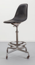 Furniture : American, Charles Eames (American, 1907-1978) and Ray Kaiser Eames (American,1912-1988) . Drafting Chair, circa 1960. Steel, faux...