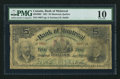 Canadian Currency: , Montreal, PQ- Bank of Montreal $5 Jan. 2, 1891 Ch. 505-40-02. ...