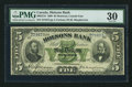 Canadian Currency: , Montreal, PQ- Molsons Bank $5 July 3, 1899 Ch. # 490-22-16. ...