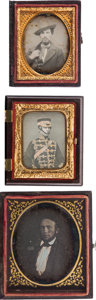 Photography:Daguerreotypes, Sixth and Ninth Plate Daguerreotypes.... (Total: 3 Items)