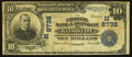 National Bank Notes:Missouri, Kansas City, MO - $10 1902 Date Back Fr. 618 The NB of the RepublicCh. # (M)8738. ...