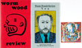 Books:Periodicals, [Literary Journals]. INSCRIBED. Worm Wood Review, Issues # 16 (1964) and 145 - 146 (1999). ...