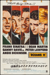 """Ocean's 11 (Warner Brothers, 1960). One Sheet (27"""" X 41"""") & Photos (3) (8"""" X 10""""). Crime. ... (T..."""