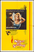 "Movie Posters:Foreign, Never on Sunday (Lopert, 1960). One Sheet (27"" X 41"") & Photos (4) (8"" X 10""). Foreign.. ... (Total: 5 Items)"