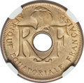 French Equatorial Africa, French Equatorial Africa: French Colony aluminum-bronze 25 Centimes1943 MS65 NGC,...