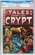 Golden Age (1938-1955):Horror, Tales From the Crypt #35 (EC, 1953) CGC VF+ 8.5 Off-white pages....