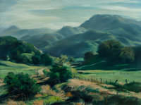 Emil Jean Kosa Jr. (French/American, 1903-1968) Emerald Valley Oil on canvas 30 x 40 inches (76.2