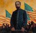 Paintings, Mort Künstler (American, b. 1931). John Philip Sousa, 1977. Oil on board. 16-3/4 x 18 inches (42.5 x 45.7 cm). Signed an...
