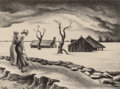 Fine Art - Work on Paper:Print, Thomas Hart Benton (American, 1889-1975). The Flood, 1937.Lithograph. 9-1/4 x 12-1/4 inches (23.4 x 31.0 cm). ed. 196. ...