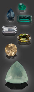 Gems:Faceted, Rare Gemstones from Namibia - 30.55 TCW. ... (Total: 7 Items)
