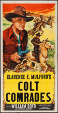 "Movie Posters:Western, Colt Comrades (Masterpiece Productions, R-1940s). Stock Three Sheet (41"" X 79""). Western.. ..."
