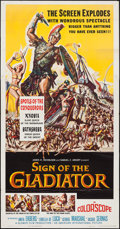 "Movie Posters:Adventure, Sign of the Gladiator (American International, 1959). Three Sheet(41"" X 78.5""). Adventure.. ..."