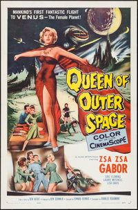 "Queen of Outer Space (Allied Artists, 1958). One Sheet (27"" X 41""). Science Fiction"