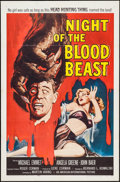 """Movie Posters:Horror, Night of the Blood Beast (American International, 1958). One Sheet(27"""" X 41""""). Horror.. ..."""