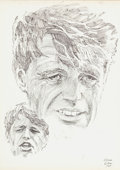 Original Comic Art:Illustrations, Gene Colan - Robert F. Kennedy Illustration Original Art (1971)....