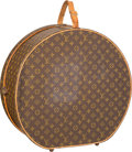 "Luxury Accessories:Travel/Trunks, Louis Vuitton Classic Monogram Canvas Botte Chapeaux Ronde Hatbox .Good Condition . 20"" Width x 19"" Height x 7.5""Dept..."