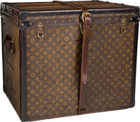"Louis Vuitton Classic Monogram Canvas Train Case Trunk, circa 1920's Good Condition 24"" Width x 1"