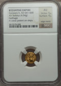 Ancients:Byzantine, Ancients: Constans II Pogonatus (AD 641-668). AV solidus (4.54gm)....