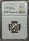 Ancients:Oriental, Ancients: PARTHIAN KINGDOM. Mithradates IV (ca. 58/7-55 BC). AR drachm (4.09 gm)....