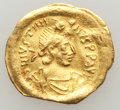 Ancients:Byzantine, Ancients: Justinian I (AD 527-565). AV tremissis (1.45 gm)....