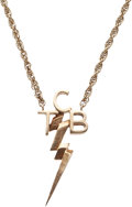 "Music Memorabilia:Memorabilia, Elvis Presley 14K Gold ""TCB"" Necklace with Original Schwartz andAbleser Box...."