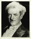 "Movie/TV Memorabilia:Photos Signed, Harry Blackstone Signed Photograph. Vintage glossy 8"" x 10"" photosigned by the renowned magician and inscribed in fountain ..."