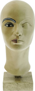 """Movie/TV Memorabilia:Props, """"Cleopatra"""" Make-Up Head. Used to design Elizabeth Taylor's make-upfor the movie. In very good condition with only a few sc..."""