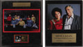 "Movie/TV Memorabilia:Memorabilia, ""Star Trek"" Commemorative Displays. Two limited edition plaquesdedicated to the original series. The first (#1,916/10,000) ..."