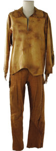 "Movie/TV Memorabilia:Costumes, ""Alamo"" Buckskin Costume. Faux buckskin costume from the 1960production of ""The Alamo"" starring John Wayne and Richard Wid..."