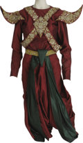 "Movie/TV Memorabilia:Costumes, ""King and I"" Costume. Maroon and emerald satin costume withsequins, worn in the 1956 romantic musical. In very good conditi..."
