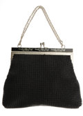 Movie/TV Memorabilia:Costumes, Marilyn Monroe Hand Purse. This small, black beaded hand purse withmetal closure and chain handle was owned and used by the...