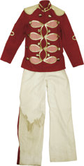 """Movie/TV Memorabilia:Costumes, """"The Music Man"""" Band Uniform Costume. Featured here is a band uniform costume worn by an extra in the 1962 musical classic. ... (1 )"""