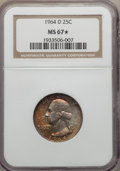 Washington Quarters, 1964-D 25C MS67 ★ NGC....