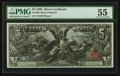 Large Size:Silver Certificates, Fr. 269 $5 1896 Silver Certificate PMG About Uncirculated 55.. ...