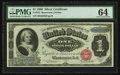 Large Size:Silver Certificates, Fr. 215 $1 1886 Silver Certificate PMG Choice Uncirculated 64.. ...