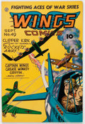 Golden Age (1938-1955):War, Wings Comics #49 (Fiction House, 1944) Condition: FN/VF....