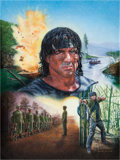 "Movie/TV Memorabilia:Original Art, An Oil Painting Related to ""Rambo"" (aka ""Rambo 4""), 2009...."