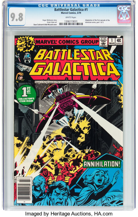 Battlestar Galactica #1 (Marvel, 1979) CGC NM/MT 9.8 White pages....