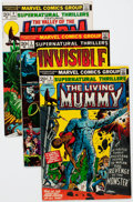 Bronze Age (1970-1979):Horror, Supernatural Thrillers #1-8 and 15 Group (Marvel, 1972-75)Condition: Average VF.... (Total: 9 Comic Books)